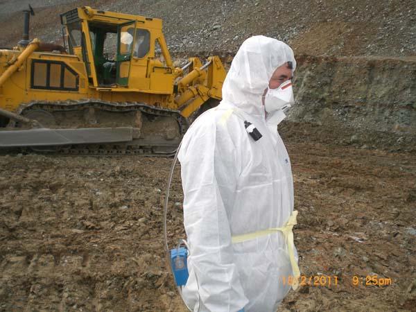 Asbestos Air Monitoring Pumps : Environmental rehabilitation of the asbestos mine